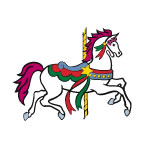 Carousel Horse Temporary Tattoos